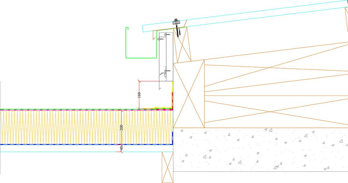 Couverture bac acier avec liaison sur étanchéité