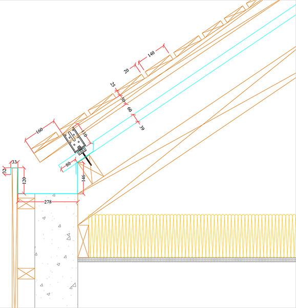 Couverture bac acier avec sur-toiture lames bois
